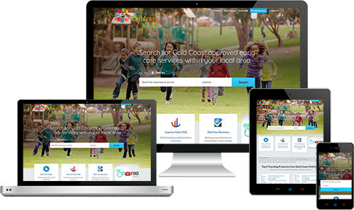 Gold Coast Child Care displayed beautifully on multiple devices